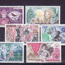 Sellos: MONACO 1235/40 SIN CHARNELA, LITERATURA CUENTOS, 175º ANIVERSARIO NACIMIENTO HANS CHRISTIAN ANDERSEN. Lote 11462528