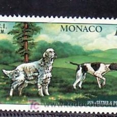 Sellos: MONACO 1208 SIN CHARNELA, FAUNA, PERROS, EXPOSICION CANINA INTERNACIONAL DE MONTE-CARLO,. Lote 11464216