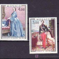 Sellos: MONACO 1196/7 SIN CHARNELA, PINTURA, PRINCIPES CARLOS III Y PRINCESA ANTONIETA MERODE,. Lote 11464516