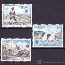 Sellos: MONACO 1186/8 SIN CHARNELA, TEMA EUROPA 1979, HISTORIA DE CORREOS, FF.CC., BARCO,. Lote 11464600