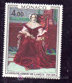 MONACO 1173 SIN CHARNELA, PINTURA DE MARIA VERROUST, CAROLINA GILBERT DE LAMETZ, (Sellos - Extranjero - Europa - Mónaco)