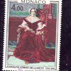 Sellos: MONACO 1173 SIN CHARNELA, PINTURA DE MARIA VERROUST, CAROLINA GILBERT DE LAMETZ, . Lote 11464706