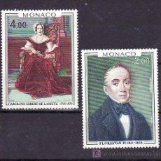 Sellos: MONACO 1172/3 SIN CHARNELA, PINTURA, FLORESTAN I Y CAROLINA GILBERT DE LAMETZ,. Lote 11464725