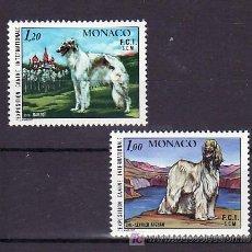 Sellos: MONACO 1163/4 SIN CHARNELA, FAUNA, PERROS, EXPOSICION CANINA INTERNACIONAL, . Lote 11464865