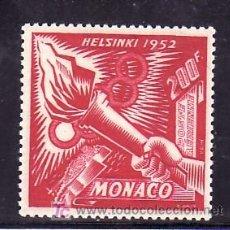 Sellos: MONACO AEREO 54 CON CHARNELA, DEPORTE, JUEGOS OLIMPICOS DE HELSINKI, LLAMA OLIMPICA, . Lote 11416870