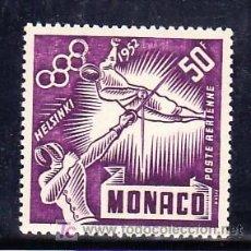 Sellos: MONACO AEREO 52 SIN CHARNELA, DEPORTE, JUEGOS OLIMPICOS DE HELSINKI, ESGRIMA. Lote 11416878