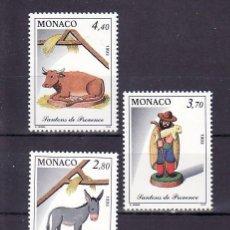 Sellos: MONACO 1912/4 SIN CHARNELA, NAVIDAD, FIGURAS DEL BELEN, . Lote 35010950
