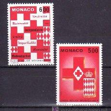 Sellos: MONACO 1906/7 SIN CHARNELA, CRUZ ROJA DE MONACO,. Lote 11417316