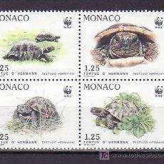 Sellos: MONACO 1805/8 SIN CHARNELA, PROTECCION NATURALEZA, ESPECIES PROTEGIDAS, TORTUGA, FAUNA, W.W.F. . Lote 35010943
