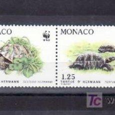 Sellos: MONACO 1805/8 SIN CHARNELA, PROTECCION NATURALEZA, ESPECIES PROTEGIDAS, TORTUGA, FAUNA, W.W.F. . Lote 11424973