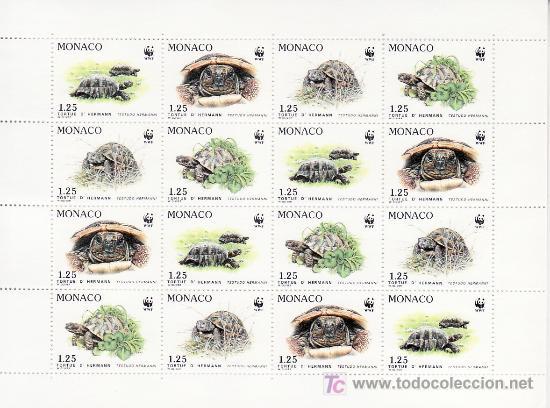 MONACO 1805/8 MINIPLIEGO SIN CHARNELA, PROTECCION NATURALEZA, ESPECIES PROTEGIDAS, TORTUGA, FAUNA, W (Sellos - Extranjero - Europa - Mónaco)