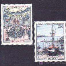 Sellos: MONACO 1696/7 SIN CHARNELA, PINTURA, BARCO EN PUERTO MONTE-CARLO Y SALA JUEGO CASINO MONACO . Lote 11425315