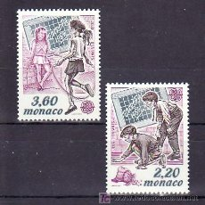 Sellos: MONACO 1686/7 SIN CHARNELA, TEMA EUROPA 1989, JUEGOS INFANTILES, . Lote 11425396