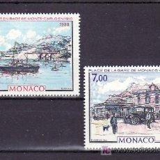 Sellos: MONACO 1643/4 SIN CHARNELA, PINTURA, BARCO, AUTOMOVIL, . Lote 11425673
