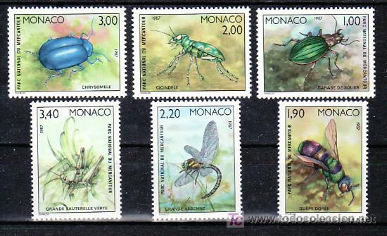 MONACO 1567/72 SIN CHARNELA, FAUNA, INSECTOS DEL PARQUE NACIONAL DE MERCANTOUR, (Sellos - Extranjero - Europa - Mónaco)