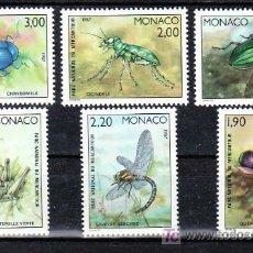 Sellos: MONACO 1567/72 SIN CHARNELA, FAUNA, INSECTOS DEL PARQUE NACIONAL DE MERCANTOUR, . Lote 11427494