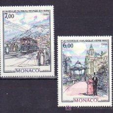 Sellos: MONACO 1543/4 SIN CHARNELA, PINTURA, KIOSCO DE LA MUSICA, TRANVIA,. Lote 11427751