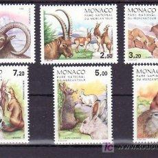 Sellos: MONACO 1522/7 SIN CHARNELA, FAUNA, ANIMALES DEL PARQUE NACIONAL DE MERCANTOUR, . Lote 11440330