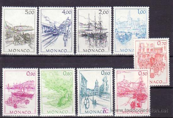 MONACO 1510/8 SIN CHARNELA, PINTURA, OBRAS DE HUBERT CLERISSI, (Sellos - Extranjero - Europa - Mónaco)