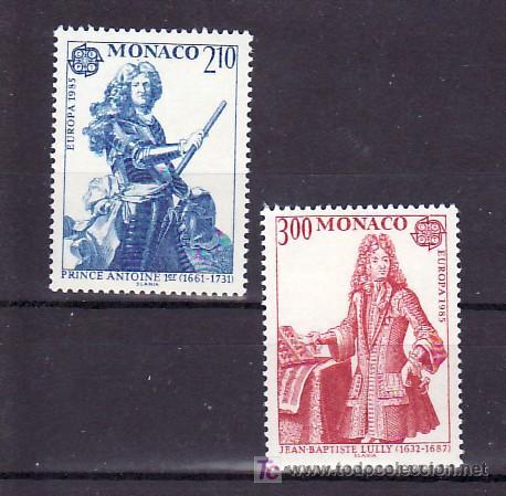 MONACO 1459/60 SIN CHARNELA, TEMA EUROPA 1985, AÑO EUROPEO DE LA MUSICA, (Sellos - Extranjero - Europa - Mónaco)