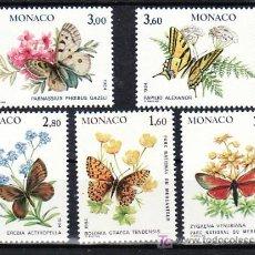 Sellos: MONACO 1420/4 SIN CHARNELA, FAUNA, FLORES, MARIPOSAS Y PLANTAS DEL PARQUE NACIONAL DE MERCANTOUR, . Lote 11441025