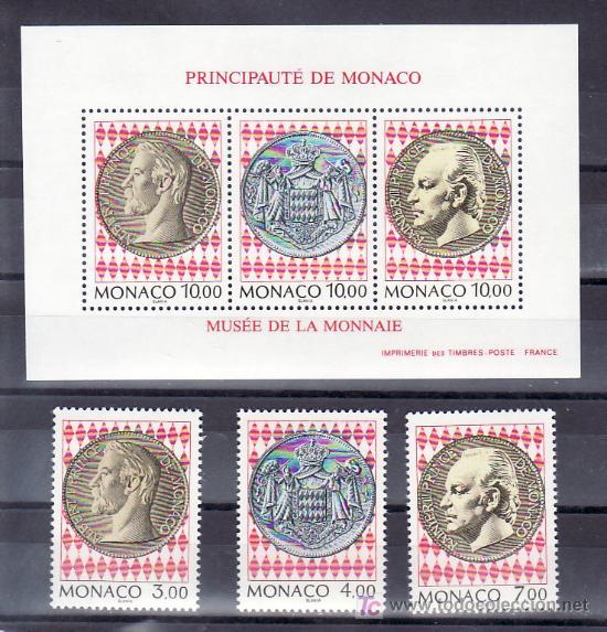 MONACO 1945/7, HB 66 SIN CHARNELA, INAUGURACION MUSEO DEL SELLO Y LA MONEDA, (Sellos - Extranjero - Europa - Mónaco)