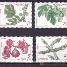 Sellos: MONACO 1393/6 SIN CHARNELA, LAS 4 ESTACIONES DE LA HIGUERA, PRIMAVERA, VERANO, OTOÑO, INVIERNO, . Lote 11455466