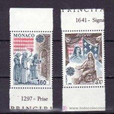 Sellos: MONACO 1322A/3A DE HB SIN CHARNELA, TEMA EUROPA 1982, HECHOS HISTORICOS, . Lote 11460438