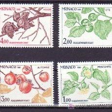Sellos: MONACO 1302/5 SIN CHARNELA, FLORES, LAS 4 ESTACIONES DEL CAQUI Y EVOLUCION DEL FRUTO, . Lote 11460593