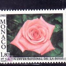 Sellos: MONACO 1297 SIN CHARNELA, FLORES, I SALON INTERNACIONAL ROSA EN MONTE-CARLO, ROSA CATHERINE DENEUVE,. Lote 11460805