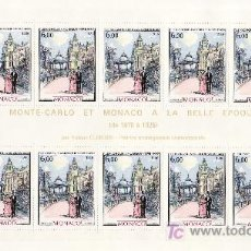 Sellos: MONACO 1543/4 MINIPLIEGO(10) SIN CHARNELA, PINTURA, KIOSCO DE LA MUSICA, TRANVIA,. Lote 11441177