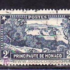 Sellos: MONACO 129 USADA, PAISAJES DEL PRINCIPADO, . Lote 11780000