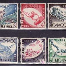 Sellos: MONACO 386/91 SIN CHARNELA, DEPORTE, BALONCESTO, FUTBOL, REGATA, JUEGOS OLIMPICOS DE HELSINKI. Lote 11752981
