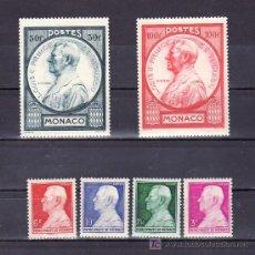 Sellos: MONACO 281/6 SIN CHARNELA, PRINCIPE LUIS II, . Lote 11769249