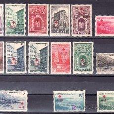Sellos: MONACO 200/14 SIN GOMA, CRUZ ROJA, SOBRECARGADO,. Lote 11769398