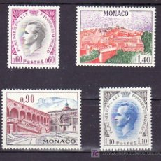Sellos: MONACO 847/50 CON CHARNELA, PRINCIPE RAINIERO III Y VISTA DEL PALACIO, . Lote 11717433
