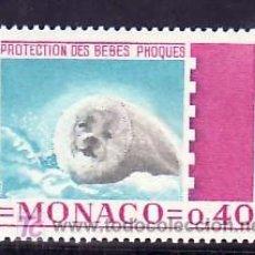 Sellos: MONACO 815 SIN CHARNELA, FAUNA, PROTECCION DE LOS BEBES FOCAS, . Lote 11718906