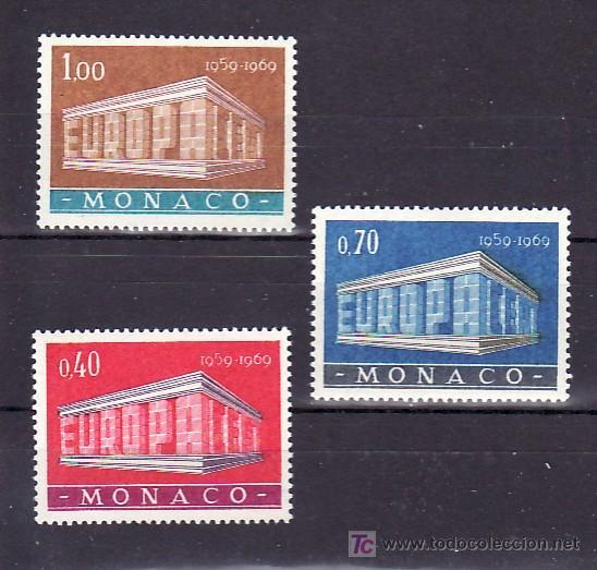 MONACO 789/91 SIN CHARNELA, TEMA EUROPA 1969 (Sellos - Extranjero - Europa - Mónaco)