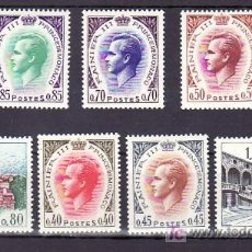 Sellos: MONACO 772/8 SIN CHARNELA, EFIGIE PRINCIPE RAINIERO III, VISTA DEL PALACIO . Lote 11719170