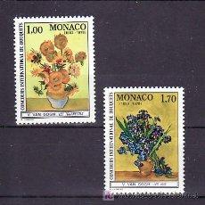 Sellos: MONACO 1161/2 SIN CHARNELA, FLORES, PINTURA, CONCURSO INTERNACIONAL DE BOUQUETS, RAMOS,. Lote 11677997