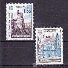 Sellos: MONACO 1101/2 SIN CHARNELA, TEMA EUROA 1977, PAISAJES, . Lote 11678491