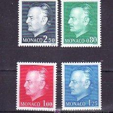 Selos: MONACO 1079/82 SIN CHARNELA, MONARQUIA, EFIGIE DEL PRINCIPE, . Lote 11678649