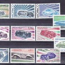 Sellos: MONACO 1018/28 SIN CHARNELA, AUTOMOVIL, EVOLUCION DE LOS COCHES, . Lote 11684276