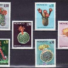 Sellos: MONACO 997/1002 SIN CHARNELA, CACTUS, PLANTAS DEL JARDIN EXOTICO. Lote 11703247