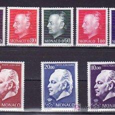 Sellos: MONACO 992/6, AEREO 97/9 SIN CHARNELA, MONARQUIA, EFIGIE DEL PRINCIPE, . Lote 11703305