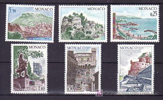 MONACO 986/91 SIN CHARNELA, SITIOS Y MONUMENTOS, (Sellos - Extranjero - Europa - Mónaco)