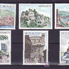 Sellos: MONACO 986/91 SIN CHARNELA, SITIOS Y MONUMENTOS, . Lote 11703326
