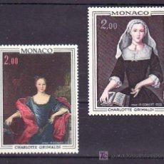 Sellos: MONACO 946/7 SIN CHARNELA, PINTURA, PRINCESA CHARLOTTE GRIMALDI, . Lote 33927310