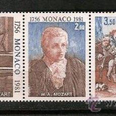 Sellos: SELLO MONACO 1272A YVERT 1981 TEMA MUSICA MOZART . Lote 27101426