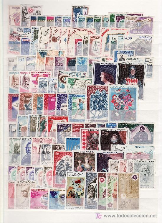 MONACO SIN CHARNELA CLASIFICADOR CON 1.895,85 EUROS YVERT 2005 + (Sellos - Extranjero - Europa - Mónaco)